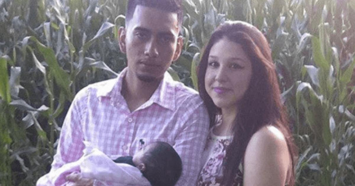 Cristhian Rivera, Iris Monarrez and their baby