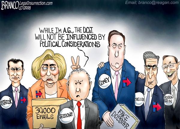 political cartoon satirizing Attorney General Jeff Sessions