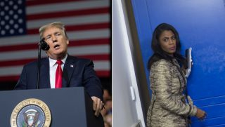 Donald Trump and Omarosa Manigault.