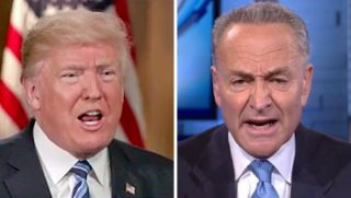 President Donald Trump and New York Sen. Chuck Schumer