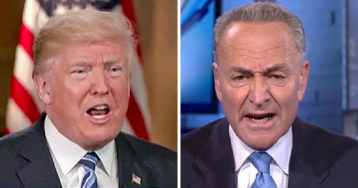 President Donald Trump and New York Sen. Chuck Schumer