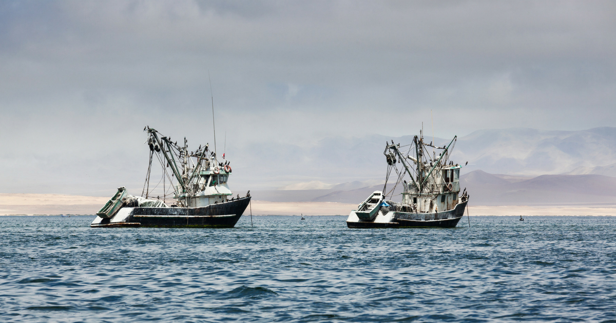 Two Pacific Ocean fishing boats.