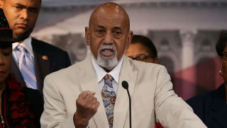 Rep. Alcee Hastings, D-Fla., speaks about black judicial nominees during a press conference on Capitol Hill July 17, 2013, in Washington, D.C.
