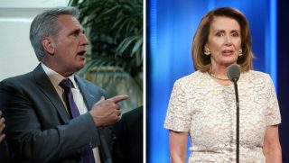 House Majority Leader Kevin McCarthy and House Minority Leader Nancy Pelosi