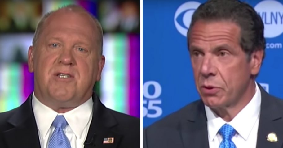 "Former acting ICE Director Tom Homan, left, had harsh words for New York Gov. Andrew Cuomo, right, on ""Fox & Friends."""