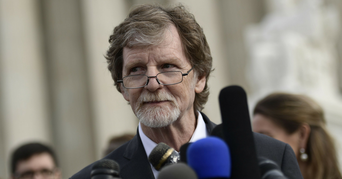 Jack Phillips, owner of Masterpiece Cakeshop, speaks to reporters