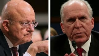 James Clapper, left, and John Brennan, right.