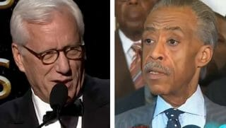 James Woods, left, and Al Sharpton