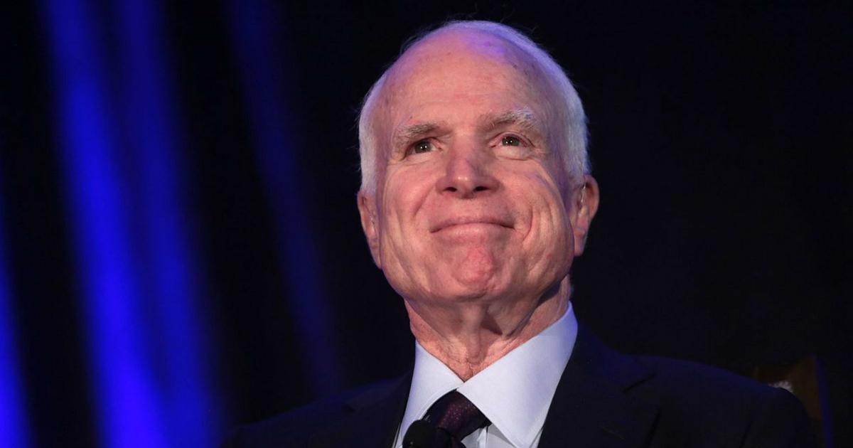 Sen. John McCain speaks at the 2016 Arizona Manufacturing Summit at the Arizona Biltmore in Phoenix, Arizona.