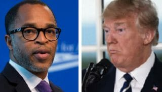 Jonathan Capehart, left, and Donald Trump