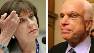 Lois Lerner, left, and John McCain