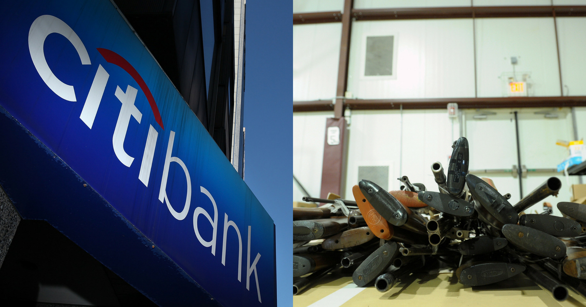 Louisiana government officials are forbidding Citibank and Bank of America from participating in a highway financing commission because of their gun regulations.