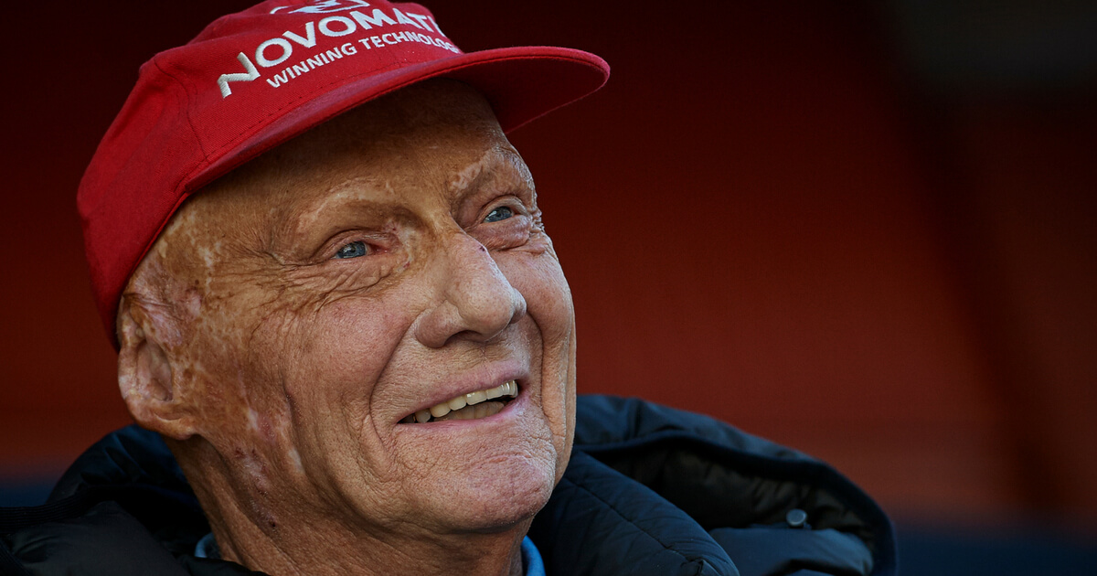 Three-time Formula 1 champion and Mercedes F1 Niki Lauda during day two of F1 Winter Testing at Circuit de Catalunya on March 7, 2018 in Montmelo, Spain.