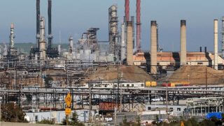 Oil refinery picture taken from a distance