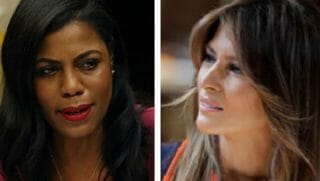 Omarosa Manigault Newman, left, and Melania Trump