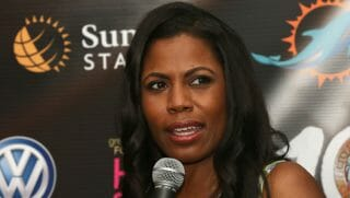 Omarosa Manigault-Newman is interviewed at the 10th Annual Jazz in The Gardens: Celebrating 10 Years of Great Music at Sun Life Stadium on March 21, 2015; in Miami Gardens, Florida.