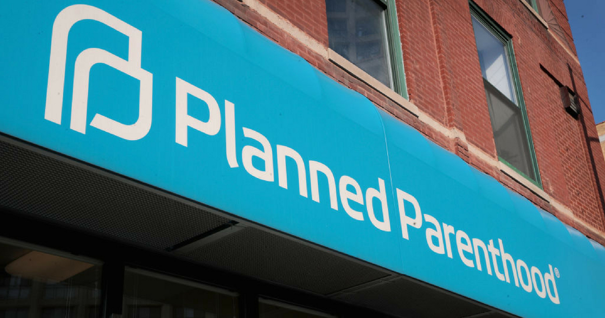 A sign hangs above a Planned Parenthood clinic on May 18, 2018 in Chicago, Illinois.