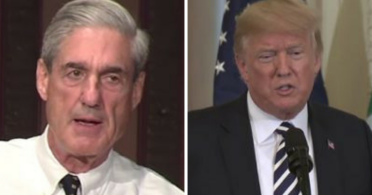 File images of Robert Mueller and Donald Trump