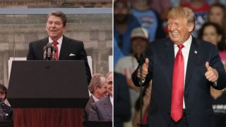 Ronald Reagan and Donald Trump
