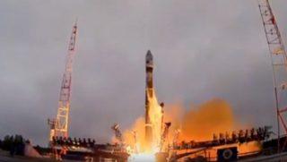 Huge rocket taking off