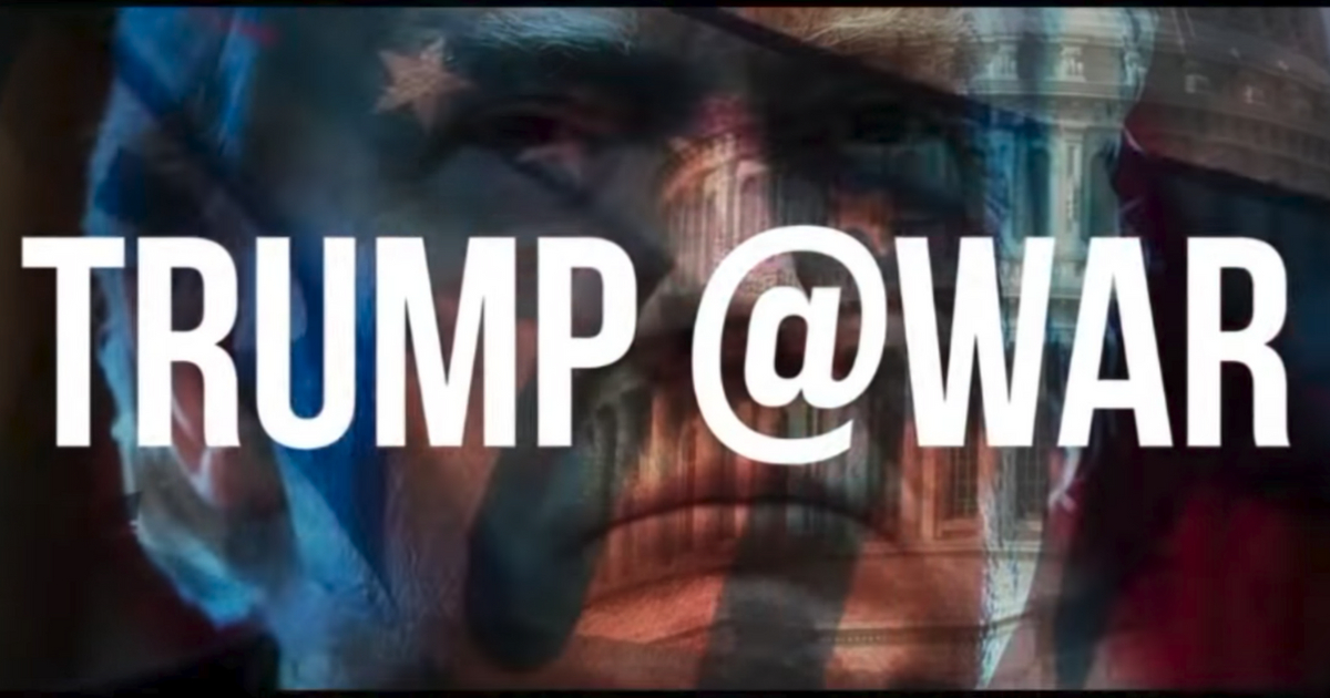 """End of the trailer for """"Trump @ War"""""""
