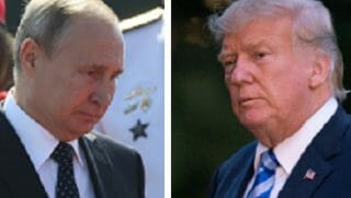 Vladimir Putin, left, and President Trump