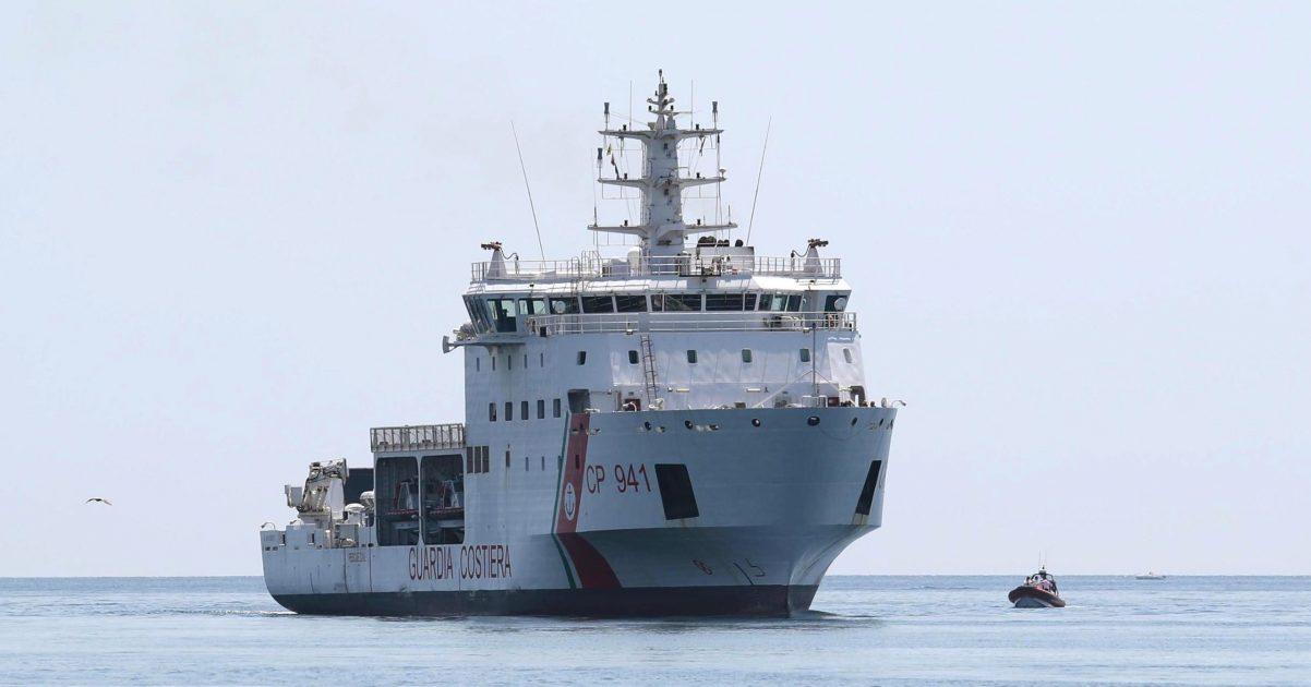 An Italian ship on the Mediterranean.