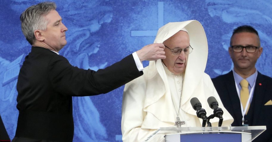 Pope Francis makes speech in Ireland
