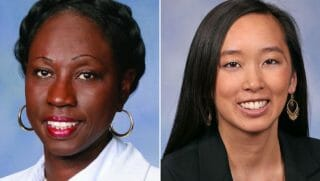 State Rep. Bettie Cook Scott and State Rep. Stephanie Chang