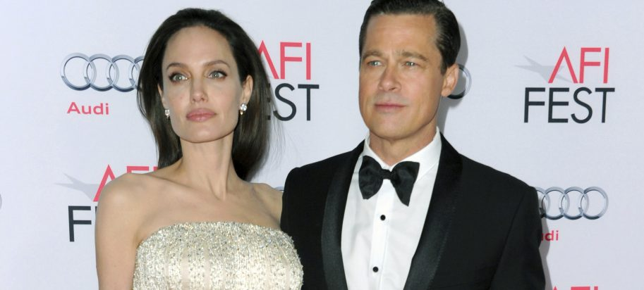 "In this Nov. 5, 2015 file photo, Angelina Jolie, left, and Brad Pitt arrive at the 2015 AFI Fest opening night premiere of ""By The Sea"" in Los Angeles."