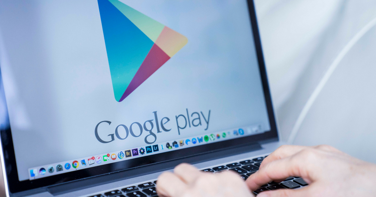 Google play open on laptop