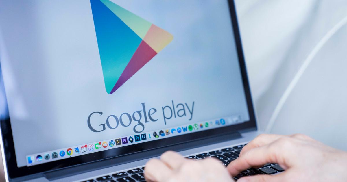 Google play open on laptop