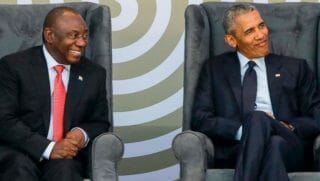 Obama with South African leader