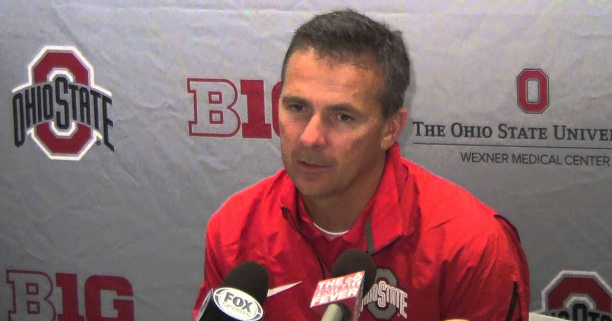 Urban Meyer at a press conference