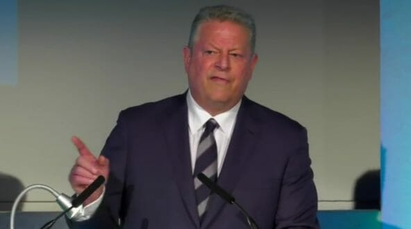 Former Vice President Al Gore during a 2017 speech on climate change