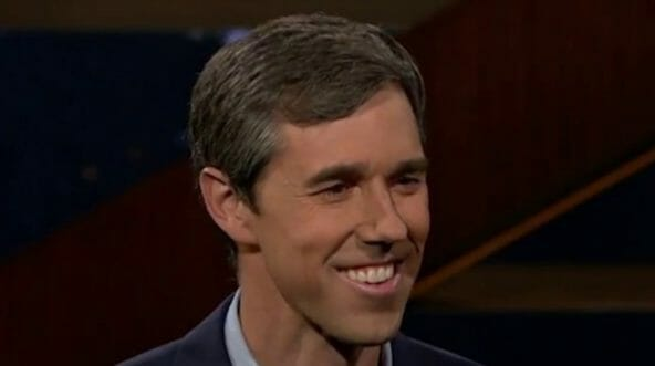 Beto O'Rourke during an appearance on HBO