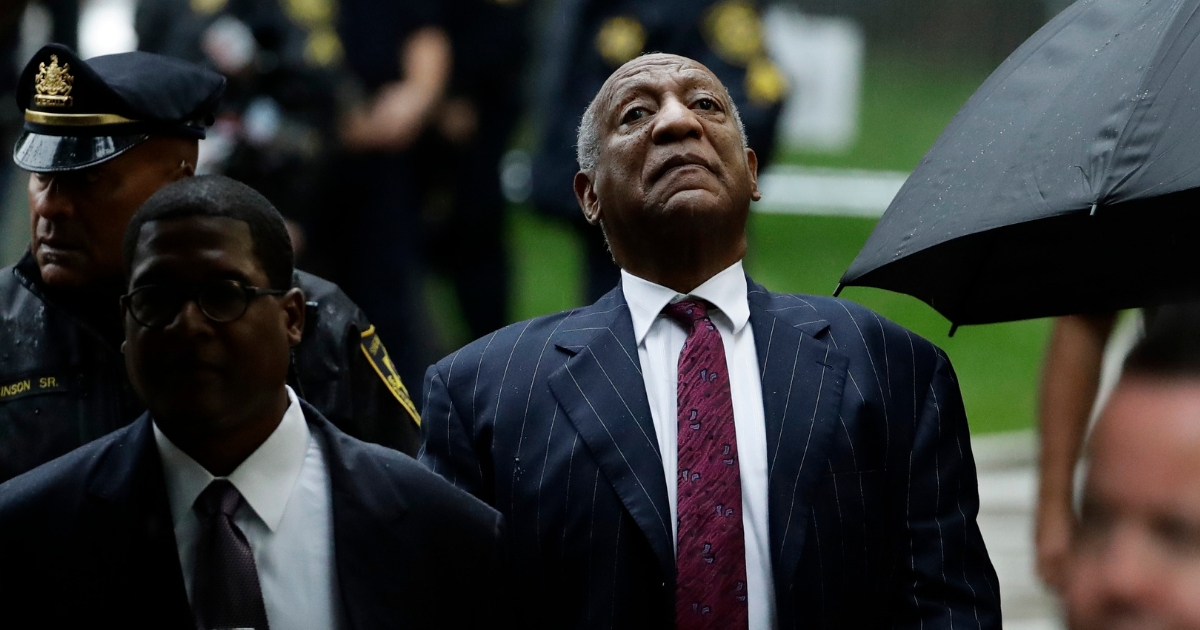Bill Cosby arrives for his sentencing hearing at the Montgomery County Courthouse, Tuesday, in Norristown, Pennsylvania.