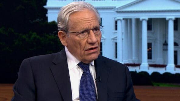 Journalist Bob Woodward is interviewed on CBS' 'Face the Nation.'