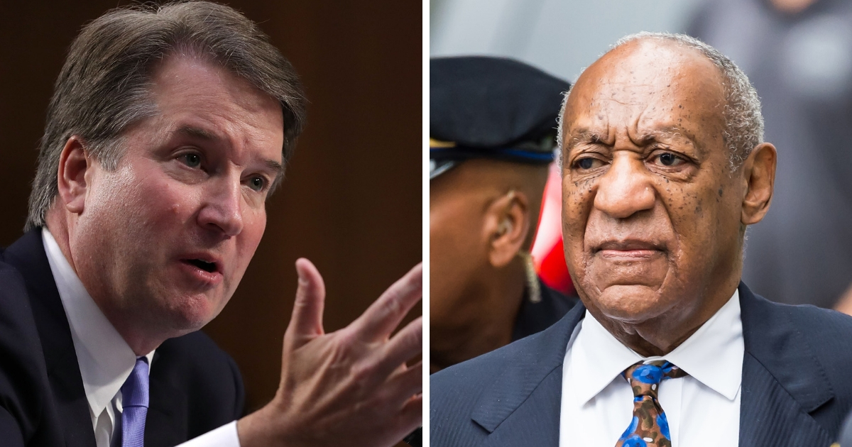 Supreme Court nominee Brett Kavanaugh, left and actor/stand-up comedian Bill Cosby, right.