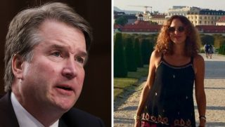 Supreme Court nominee Brett Kavanaugh, left, and Cristina King Miranda, right.