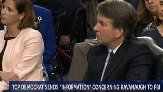 Supreme Court nominee Brett Kavanaugh is pictured during his nomination hearings in early September.