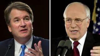 Supreme Court nomineeBrett Kavanaugh, left, andformer Vice President Dick Cheney, right.