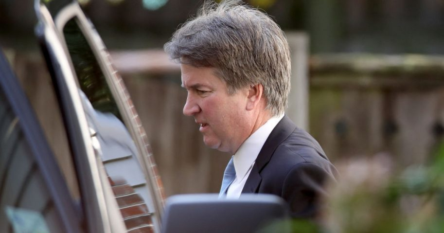 Brett Kavanaugh Getting into Car