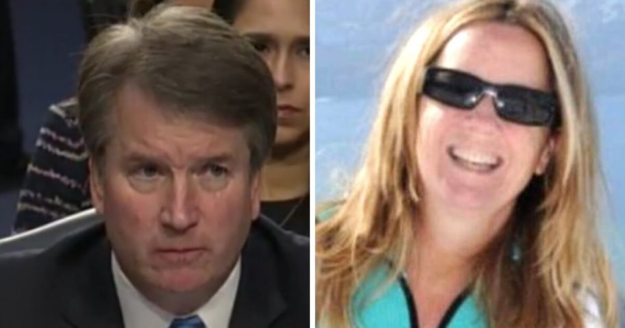 Supreme Court nominee Brett Kavanaugh, left, and Christine Ford, the woman who claims Kavanaugh assaulted her at a part when the two were in high school.