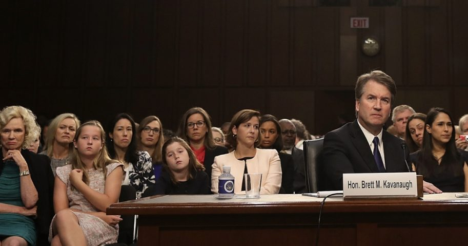 Supreme Court nominee Judge Brett Kavanaugh appears before the Senate Judiciary Committee during his Supreme Court confirmation hearing in the Hart Senate Office Building on Capitol Hill Sept. 4, 2018, in Washington, D.C.