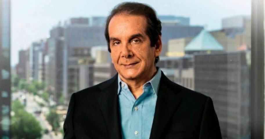 Charles Krauthammer in a black suit and blue shirt.