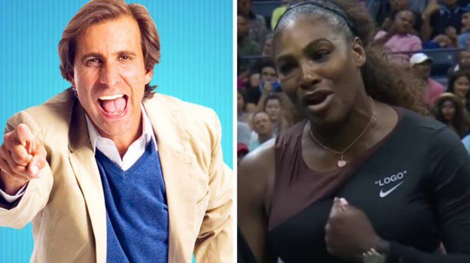 SiriusXM's Chris Russo, left, blasted tennis star Serena Williams, right, for her outburst against an umpire at Saturday's U.S. Open final.