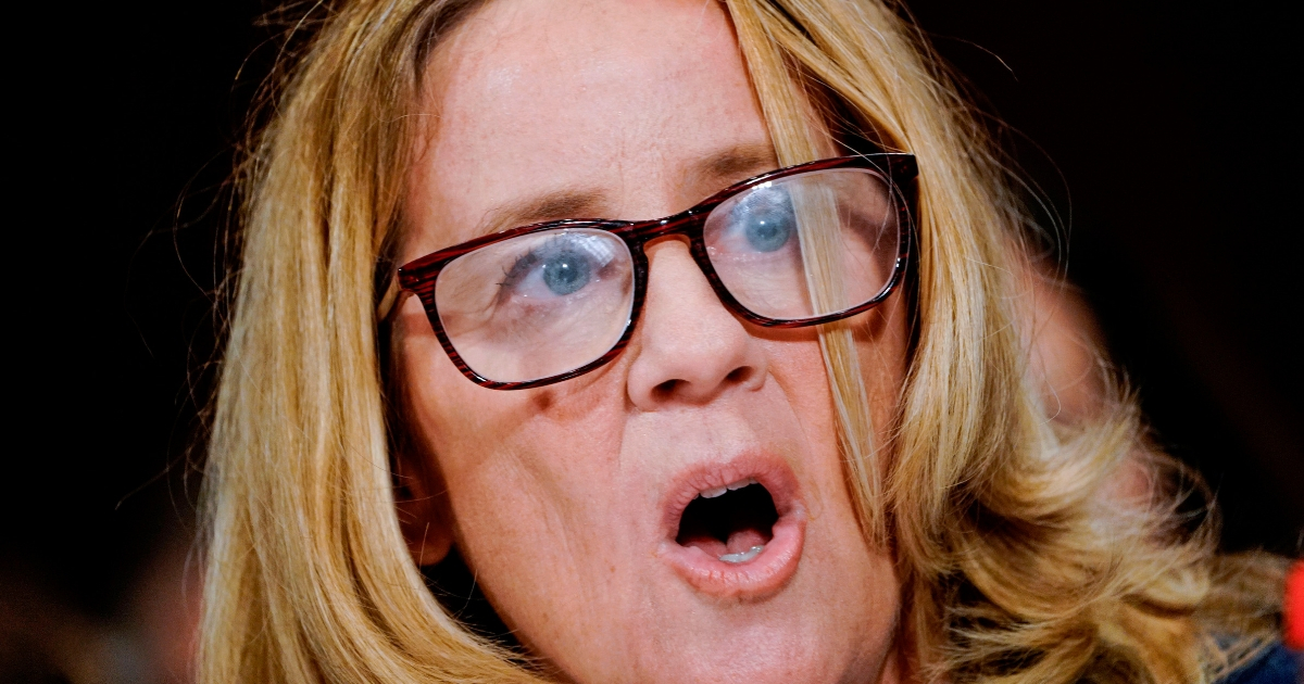 Christine Blasey Ford testifies Thursday before the Senate Judiciary Committee on Capitol Hill in Washington.