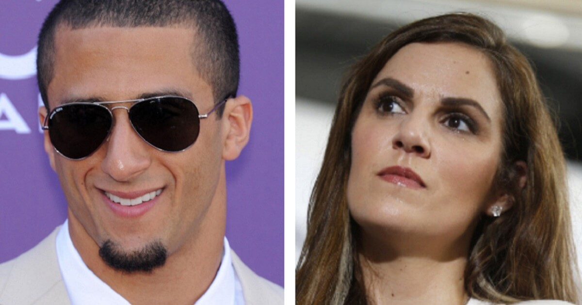 Colin Kaepernick, left, and Taya Kyle, right.
