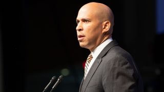 Cory Booker speaks at the Prayer Breakfast for the 48th Annual Congressional Black Caucus Foundation on Sept. 15, 2018, in Washington, D.C.